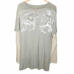 Kinetix Graphic Print Layered Long Sleeve T-Shirt